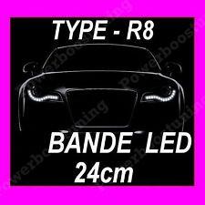 BANDE A LED 24cm BLANCHE PHARE FEUX DE JOUR DIURNE BLANC XENON MOTO SCOOTER QUAD
