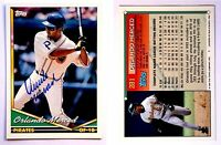 Orlando Merced Signed 1994 Topps #281 Card Pittsburgh Pirates Auto Autograph