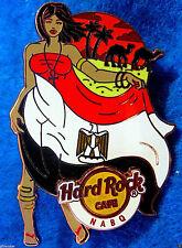 NABQ EGYPT LANDMARK FLAG GIRL EGYPTIAN DESERT CAMELS Hard Rock Cafe PIN LE100