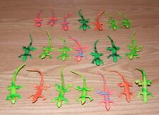 Lot of 21 Genuine Greenbrier International Plastic Multicolored Reptile Toys