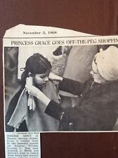 H1b Ephemera 1968 Picture Princess Grace Caroline Shopping