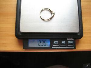 Damen Ring Weißgold 585 mit echtem Stein