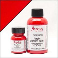 Angelus Fire Red acrylic leather paint in 4oz bottle