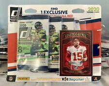 2020 Donruss Football Blister 4 Packs and Legends of the Fall Red Parallel Card