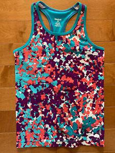 Reebok Girls Play Dry Tank Top Shirt Top Pink Purple Turquoise Blue M 10-12