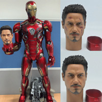 Iron Man Tony Stark Head Sculpt Fit 1/4 HT MK42MK43 Battle Damaged Collection US