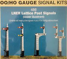 Ratio Lattice Post Signals x 2 sets Kit 486 - Model Trains OO/HO SEE DESCRIPTION