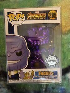 Thanos Funko Pop #289 Popcultcha Purple Chrome Exclusive Avengers Infinity War