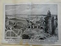 New York City Brooklyn Bridge Manhattan Terminal overcrowding 1905 print
