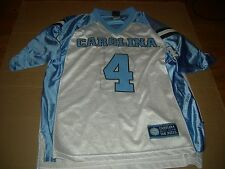 North Carolina Tar Heels SEWN #4 White Football Jersey,PERSONALIZE $22,GR8 GIFT
