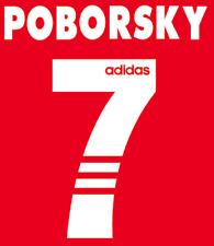 Benfica Poborsky Nameset Shirt Soccer Number Letter Heat Print Football 1997 H