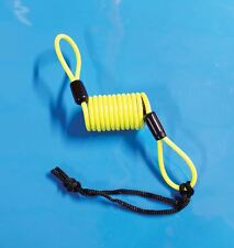 Mammoth Motorcycle Disc Lock Reminder Cable Attached to Brake Lever Yellow