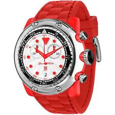 GLAM ROCK MEN'S MIAMI BEACH 50MM RED SILICONE BAND QUARTZ ANALOG WATCH GR20135