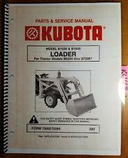 Kubota B1630 B1640 Loader B5200 B6100 B6200 B7100 B7200 Service Amp Parts Manual