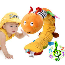 Lovely Baby Musical Caterpillar Rattle Ring Bell Cartoon Animal Plush Toy Doll j