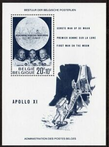 Belgium Scott #B 846 VF MNH 1969 Moon Landing Souvenir Sheet