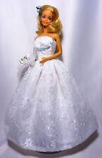 Ooak barbie mariée série 2 poupée et tenue