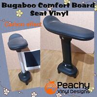 Bugaboo Comfort Wheeled Board Seat Pole Pre-Cut Vinyl - BLACK CARBON