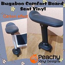 Bugaboo Komfort mit Rädern Bord Sitz Stange Zugeschnitte Vinyl - Schwarz Carbon