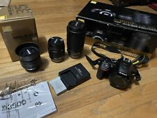 Nikon D3500 24.2MP with 18-55mm VR & 70-300 Kit Camera - With extra 35mm lens
