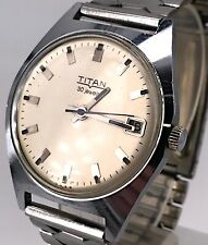 9c6369162 TITAN 35,5mm vintage watch FUNCIONANDO hand manual winding date reloj cuerda  3WC
