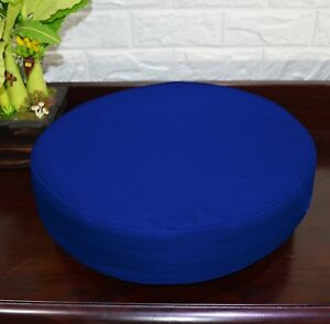 PL17r Blue Water Proof Outdoor Box Round Shape Cushion Cover Sofa Seat Case