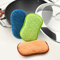 5PCS NON-STICK OIL WATER ABSORPTION CLEANING CLOTH DISH PLATE WASHING SPONGE FIL