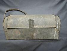 Ancienne caisse à outils zinc déco atelier vieux métier french antique tool box