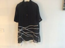 TOP BLOUSE,BEACH WERE, SZ14/16 New COTTON/ POLYESTER, BLACK