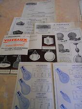 lot catalogue - dépliant lampes visseaux  ( ref 10
