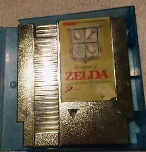 Original Vintage NES The Legend Of Zelda Gold Cartridge (Nintendo 1985)
