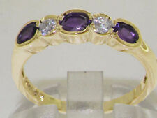 Eternity Amethyst Yellow Gold Fine Gemstone Rings
