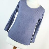 Peacocks Womens Size 10 Blue Plain Basic Tee