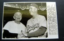 1955 Casey Stengel Yankees & Walt Alston Dodgers World Series AP Press Photo
