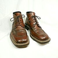 Mens Nikolini Handcrafted Brown Leather Laced Ankle Boots Made in Italy 43 / 10