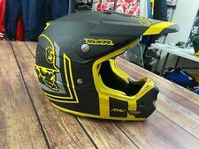 MSR Metal Mulisha Men's Black/Yellow MAV-1 MX Motocross Helmet - Medium