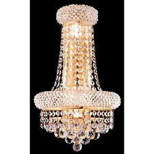 "Palace Bangle Orig.  4 light 17"" Crystal  Wall  Light -Gold Fixture"