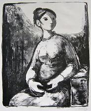 Fernando Rivero Figura Sentada Litografia Puerto Rico Espana Print Spain GVARRO