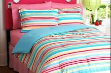 TWIN / SINGLE - Your Zone - Skylight Striped REVERSIBLE SHAM & COMFORTER SET