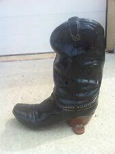 Cowboy Boot - RECYCLED ALUMINUM STATUE - Planter, Man Cave, Cabin, Farm, Shop