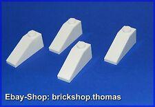 Lego 4 x Dachstein Schrägstein weiß (1 x 3) - 4286 - White - NEU / NEW