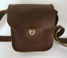 VINTAGE BROWN LEATHER SATCHEL BAG SHOULDER BAG