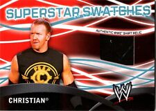 WWE Christian Topps 2011 Superstar Swatches Event Used Shirt Relic Card FD