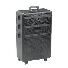 Sibel Negro Cocodrilo Beauty Case 3 niveles de almacenamiento de información