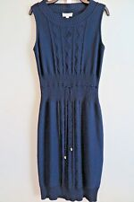 NWT St. John Sport Navy Blue Santana Knit Sleeveless Dress Size S MSRP $545