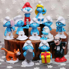 Cute Smurfs Gargamel 12pcs Kids Party Cake Toppers Disney Play Action Figures