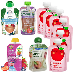11ct Kids Fruit Smoothie Pouches Gerber Sprout Organic Earth's Best Good &Gather