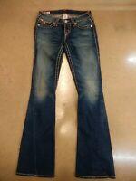 True Religion Womens blue Jeans Size 26 Joey Super T Distressed Blue Jeans