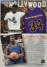 (5) Card Lot 1996 Score Board Shaquille O'Neal Hollywood Lakers Jersey Insert