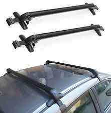 NEW Universal Car Black Anti Theft Car Roof Bars Without Rails Lockable Rack Box